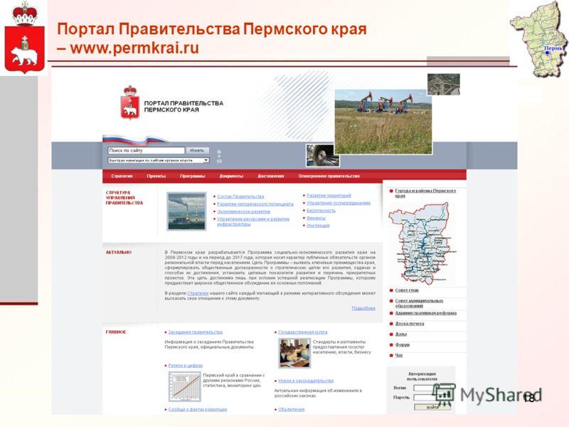 18 Портал Правительства Пермского края – www.permkrai.ru