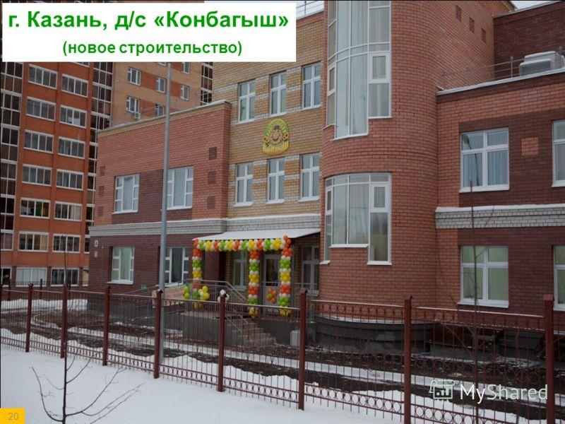 20 г. Казань, д/с «Конбагыш» (новое строительство)