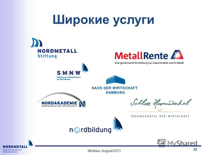 Moskau; August 2011 30 Широкие услуги