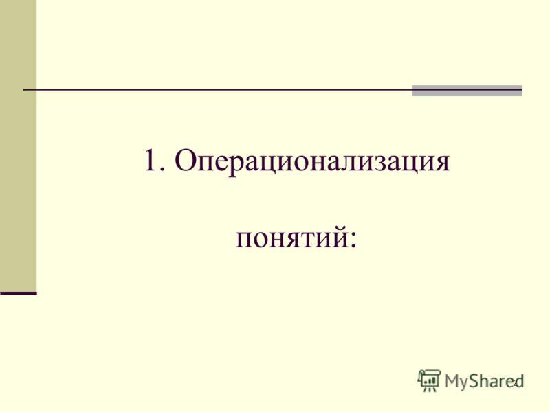 2 1. Операционализация понятий: