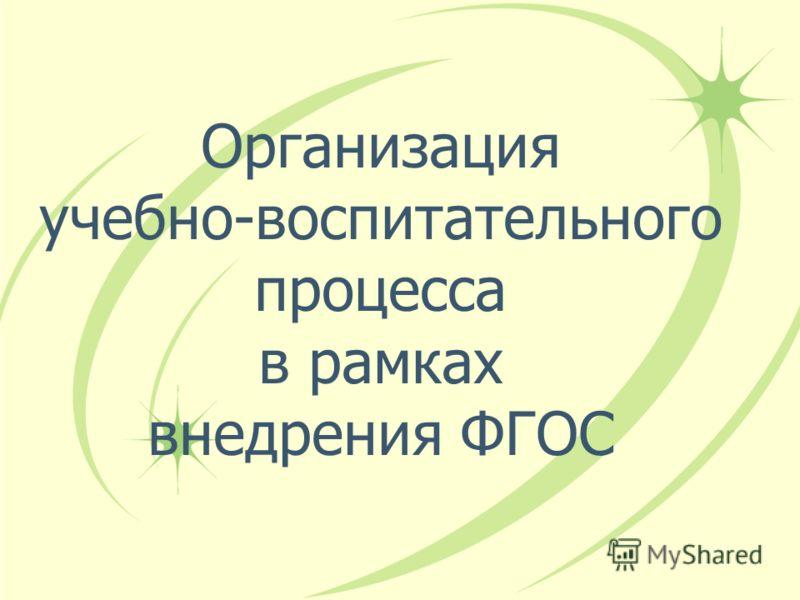 Организация учебно-воспитательного процесса в рамках внедрения ФГОС