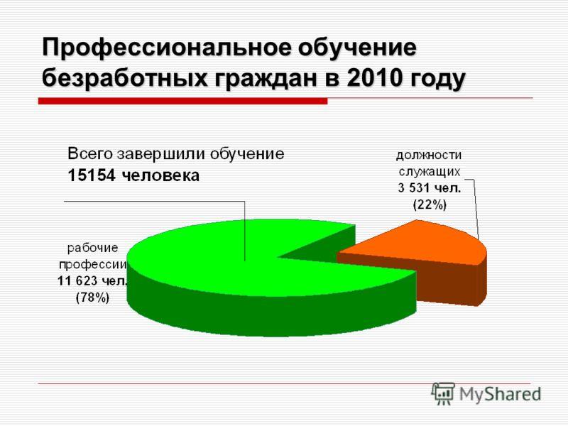 Профессиональное обучение безработных граждан в 2010 году