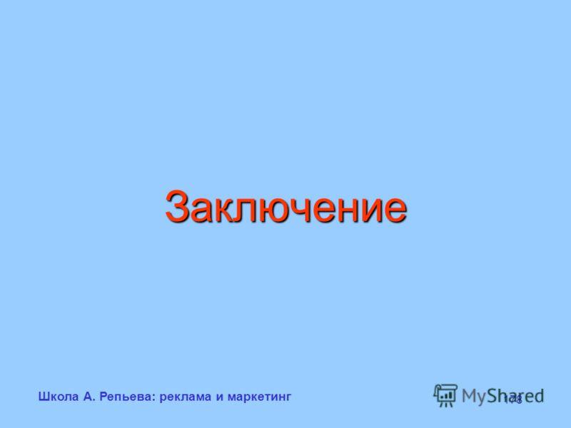 Школа А. Репьева: реклама и маркетинг 178 Заключение
