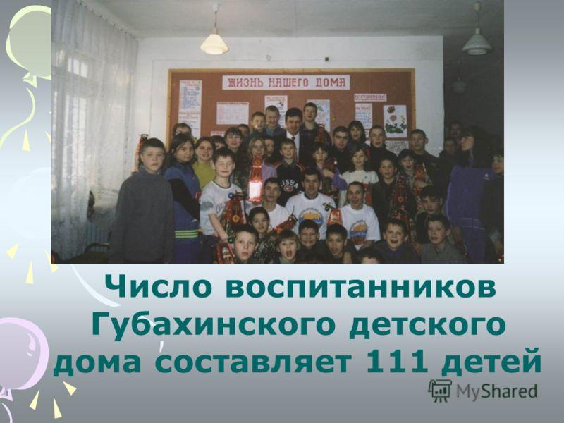 Число воспитанников Губахинского детского дома составляет 111 детей