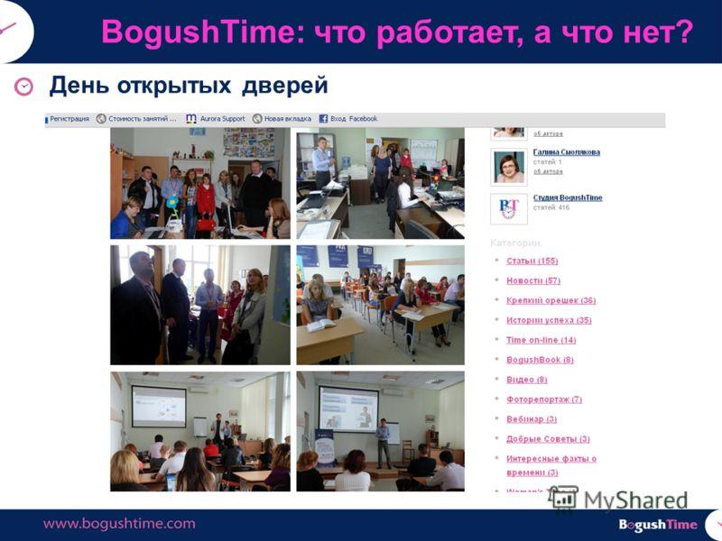 День открытых дверей BogushTime: что работает, а что нет?