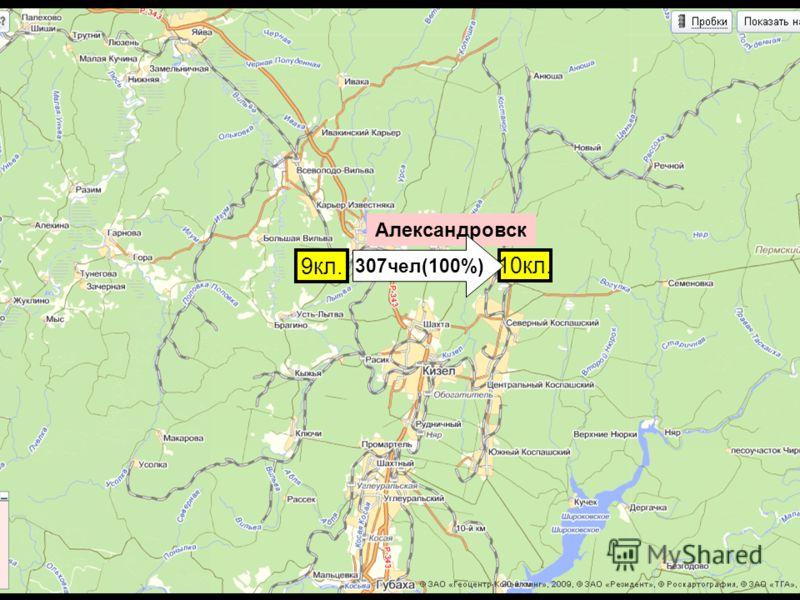 Александровск 9кл. 10кл. 307чел(100%)
