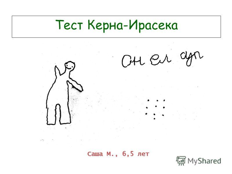 Тест Керна-Ирасека Саша М., 6,5 лет