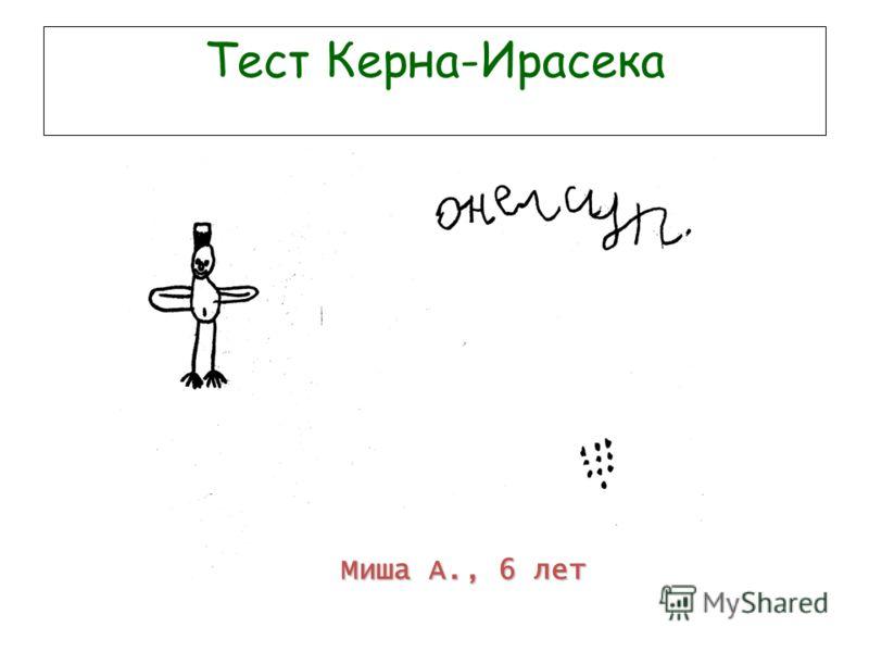 Тест Керна-Ирасека Миша А., 6 лет
