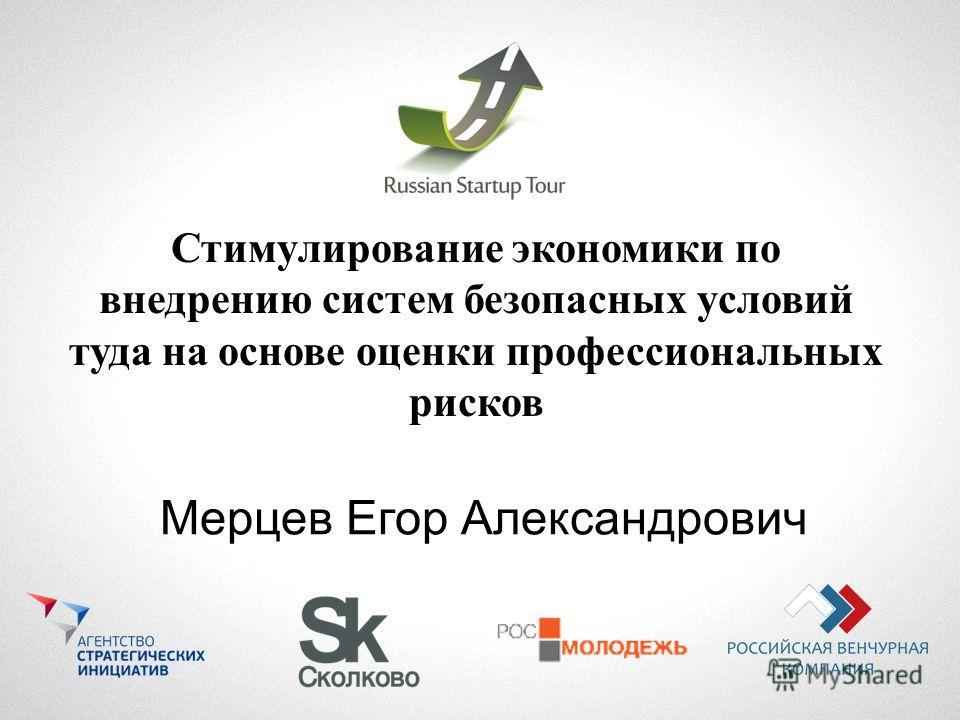 Стимулирование экономики по внедрению систем безопасных условий туда на основе оценки профессиональных рисков Мерцев Егор Александрович