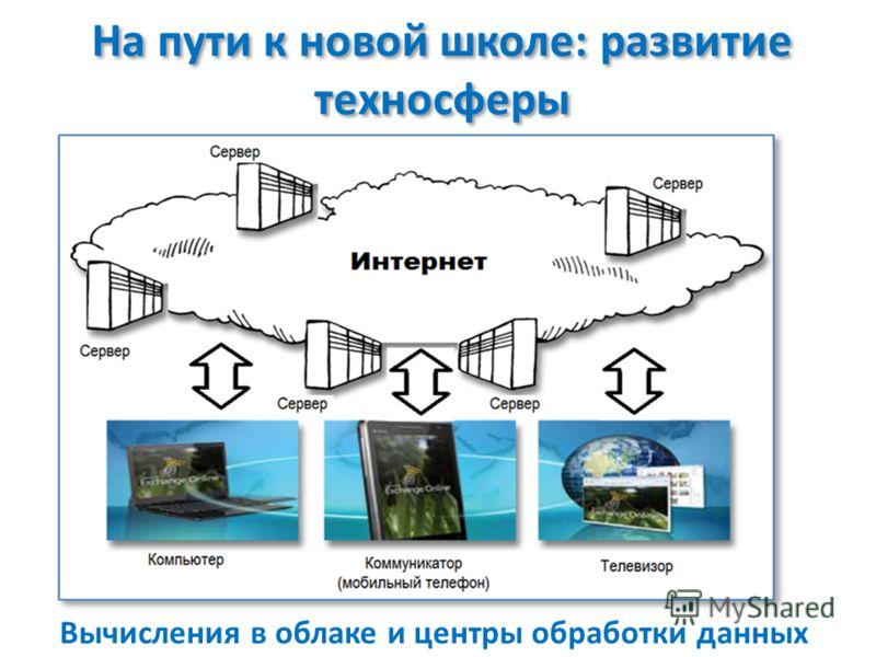 На пути к новой школе: развитие техносферы Вычисления в облаке и центры обработки данных