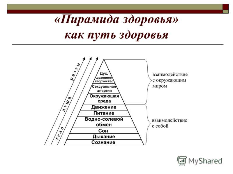 «Пирамида здоровья» как путь здоровья