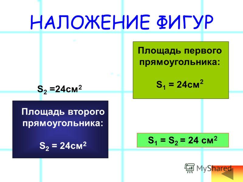 ЕДИНИЦЫ ПЛОЩАДИ мм 2 см 2 дм 2 м 2 а га км 2 ПЛОЩАДЬ – это то место, которое занимает фигура. 1)ППутём наложения фигур друг на друга. 2)ДДеление на одинаковые квадраты (со стороной 1см), их подсчёт. 3)ППалетка. 4)Формула подсчёта квадратов: S=a*b. 10