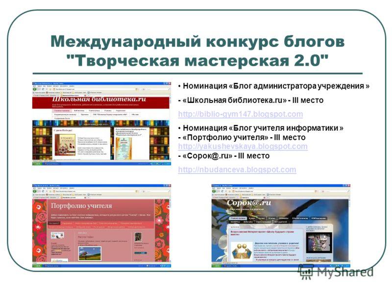 Международный конкурс блогов