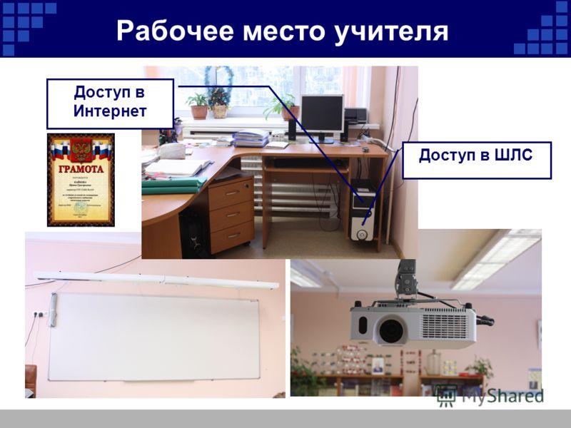 Рабочее место учителя Доступ в Интернет Доступ в ШЛС