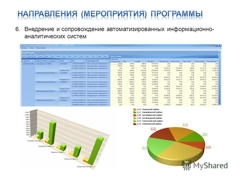 6.Внедрение и сопровождение автоматизированных информационно- аналитических систем