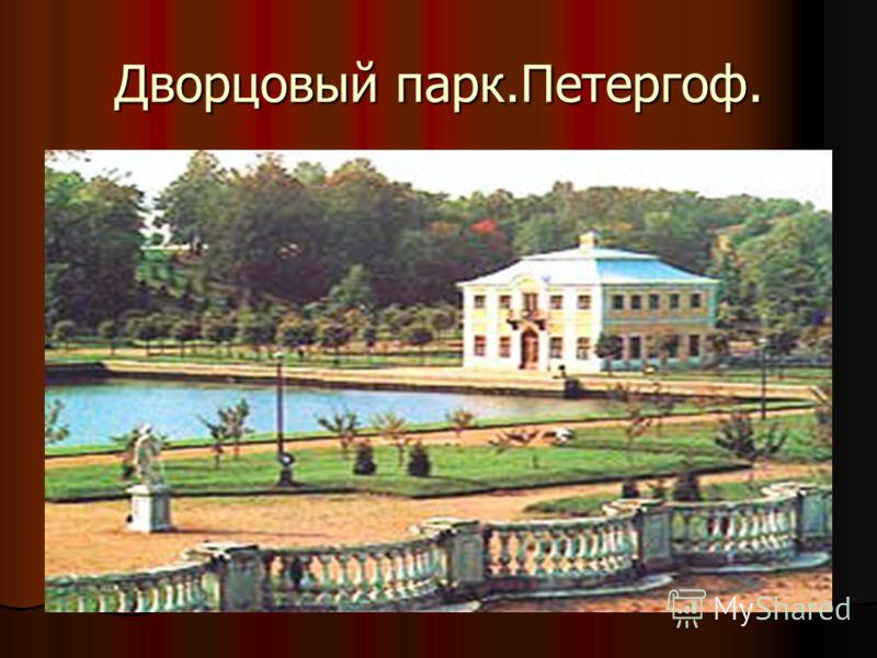 Дворцовый парк.Петергоф.
