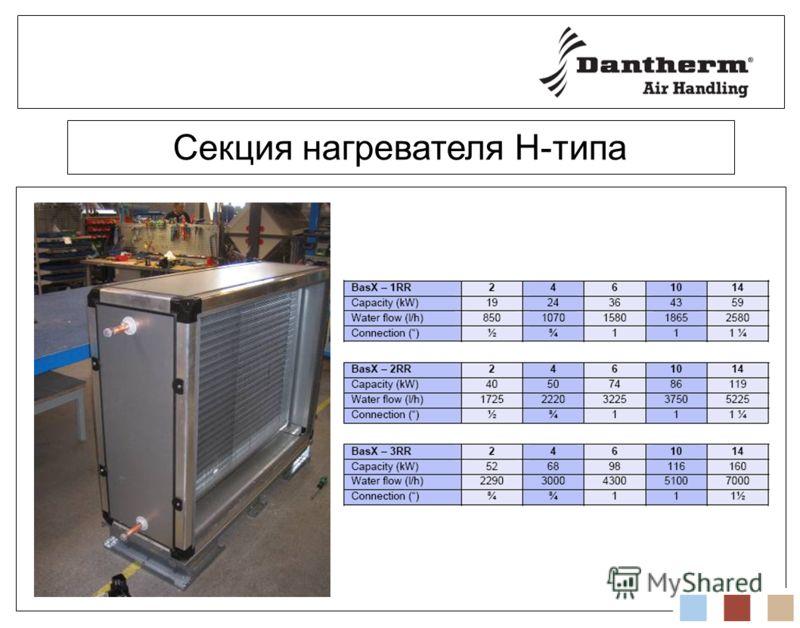 Секция нагревателя H-типа