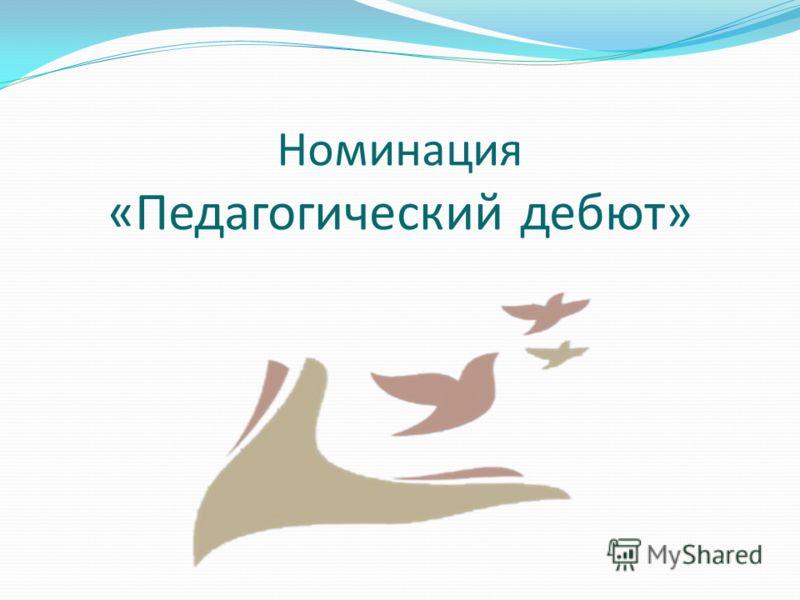 Номинация «Педагогический дебют»