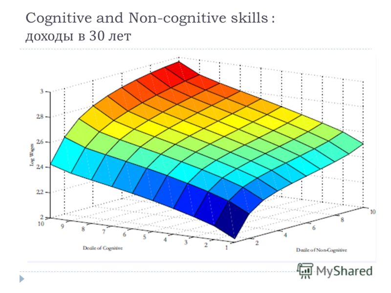 Cognitive and Non-cognitive skills : доходы в 30 лет