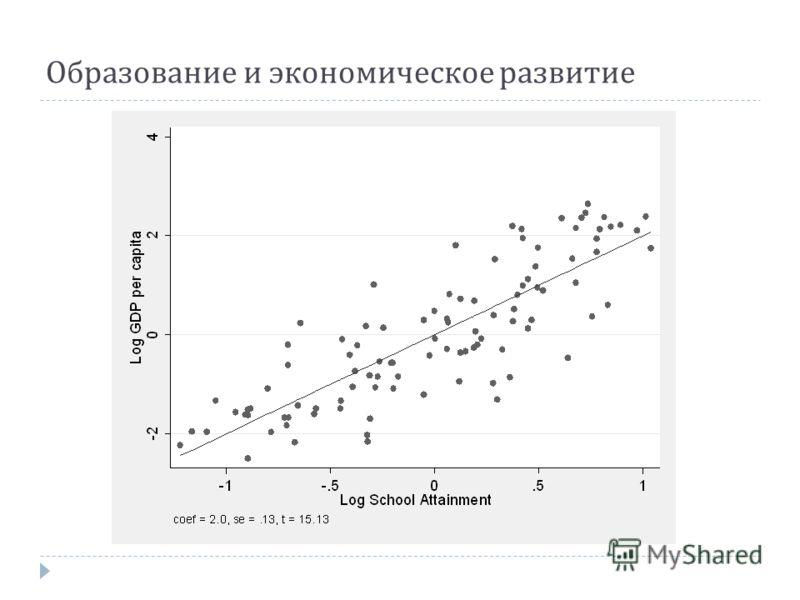 Образование и экономическое развитие