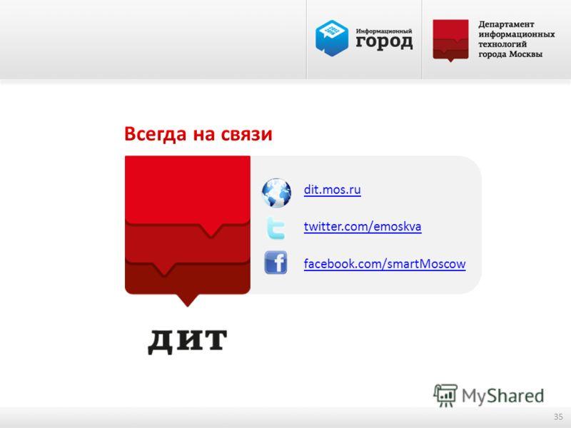 dit.mos.ru twitter.com/emoskva facebook.com/smartMoscow 35