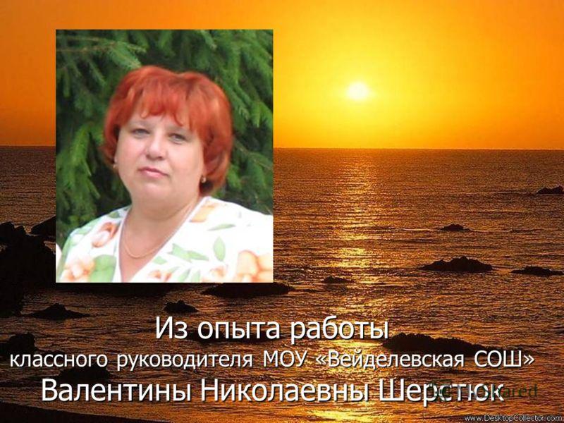 Из опыта работы классного руководителя МОУ «Вейделевская СОШ» Валентины Николаевны Шерстюк