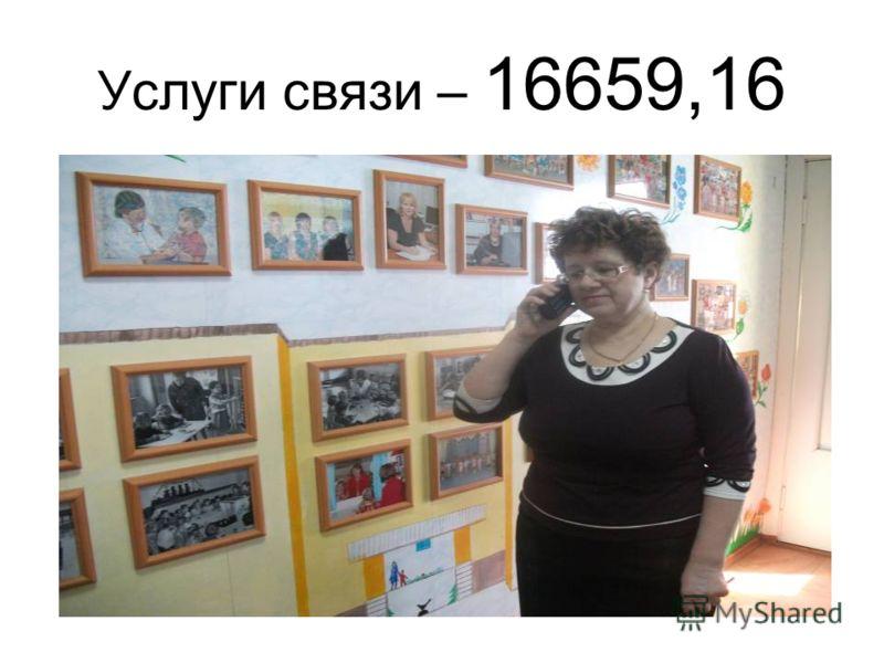 Услуги связи – 16659,16