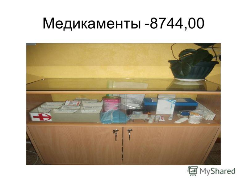 Медикаменты -8744,00