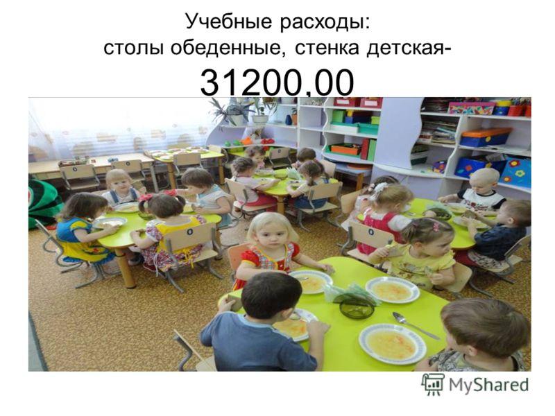 Учебные расходы: столы обеденные, стенка детская- 31200,00