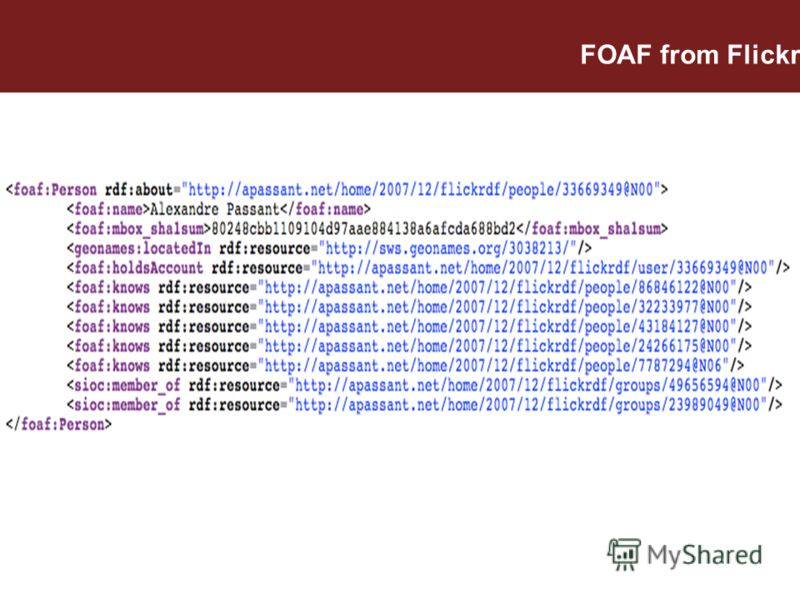 FOAF from Flickr