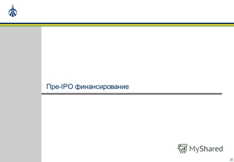 38 Пре-IPO финансирование