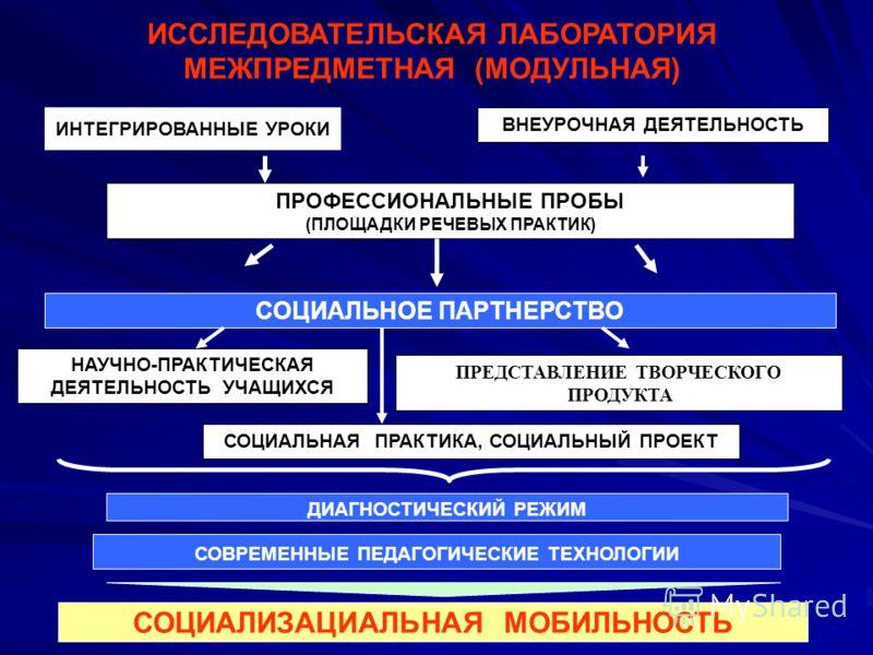 ПРОФЕССИОНАЛЬНЫЕ ПРОБЫ (ПЛОЩАДКИ РЕЧЕВЫХ ПРАКТИК) ВНЕУРОЧНАЯ ДЕЯТЕЛЬНОСТЬ НАУЧНО-ПРАКТИЧЕСКАЯ ДЕЯТЕЛЬНОСТЬ УЧАЩИХСЯ ПРЕДСТАВЛЕНИЕ ТВОРЧЕСКОГО ПРОДУКТА СОЦИАЛЬНАЯ ПРАКТИКА, СОЦИАЛЬНЫЙ ПРОЕКТ ИССЛЕДОВАТЕЛЬСКАЯ ЛАБОРАТОРИЯ МЕЖПРЕДМЕТНАЯ (МОДУЛЬНАЯ) ИНТЕ
