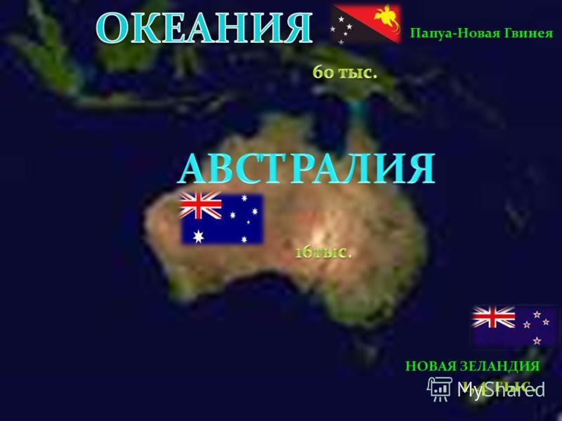 Папуа-Новая Гвинея НОВАЯ ЗЕЛАНДИЯ
