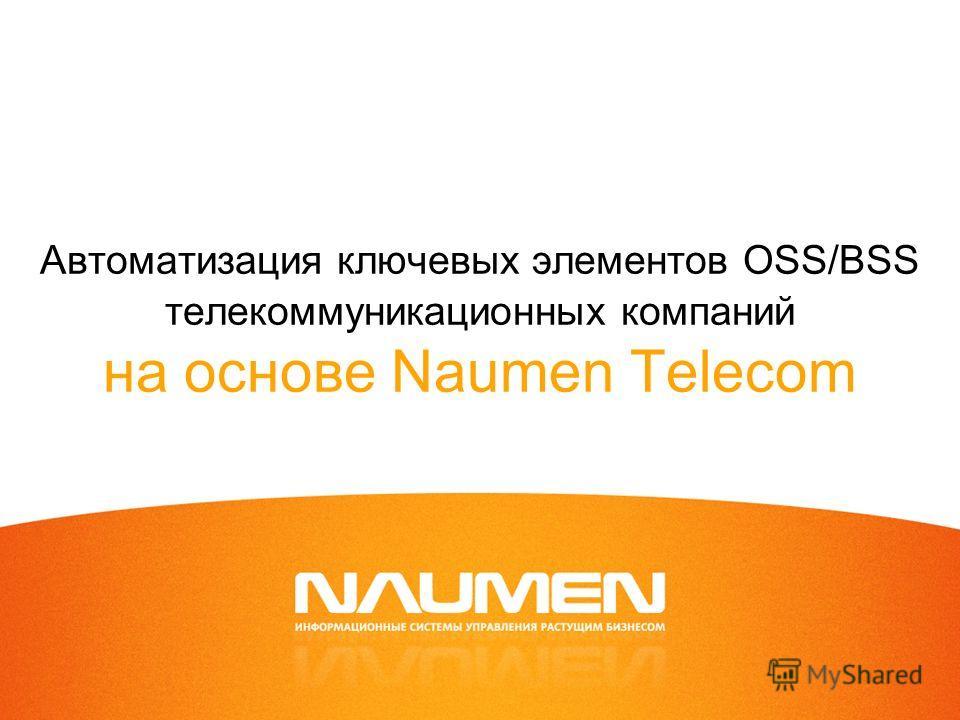 Автоматизация ключевых элементов OSS/BSS телекоммуникационных компаний на основе Naumen Telecom