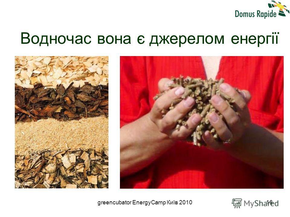 greencubator EnergyCamp Київ 201016 Водночас вона є джерелом енергії