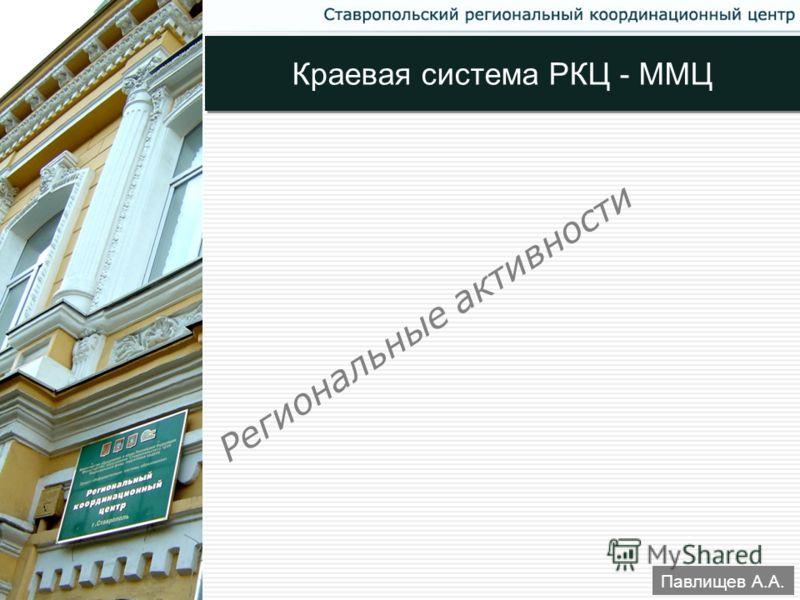 33 Павлищев А.А. Региональные активности Краевая система РКЦ - ММЦ