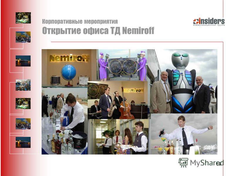 14 Корпоративные мероприятия Открытие офиса ТД Nemiroff