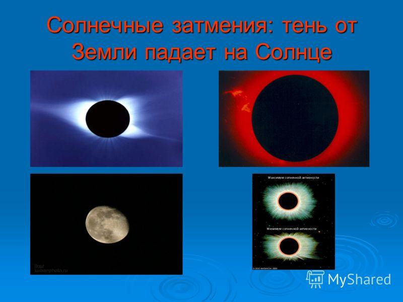 Солнечные затмения: тень от Земли падает на Солнце