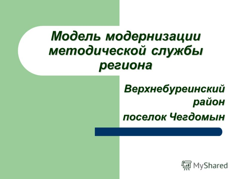 Модель модернизации методической службы региона Верхнебуреинский район поселок Чегдомын