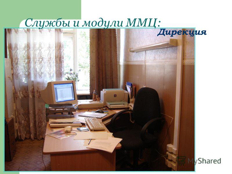 Службы и модули ММЦ: Дирекция
