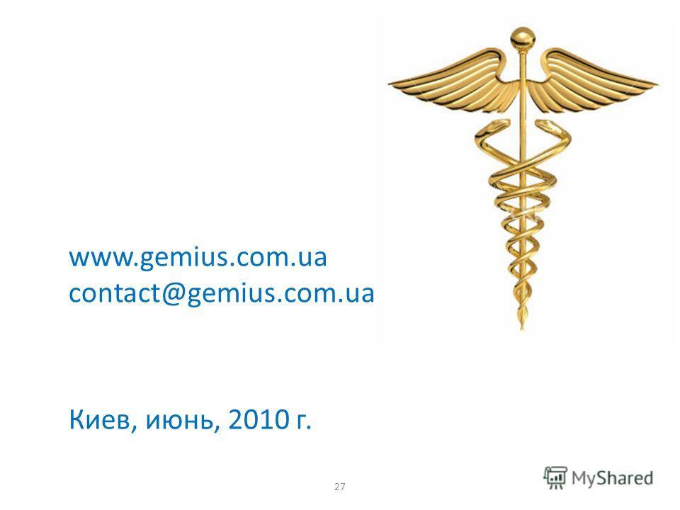 27 www.gemius.com.ua contact@gemius.com.ua Киев, июнь, 2010 г.
