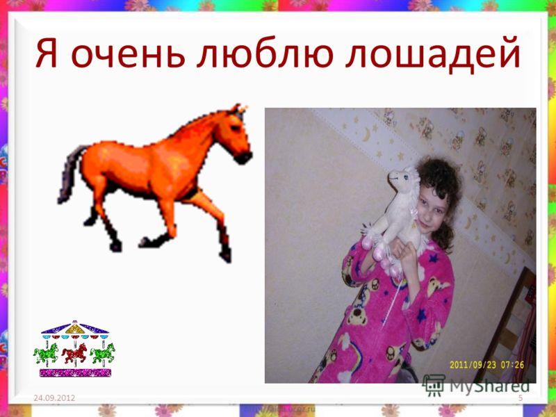 Я очень люблю лошадей 24.09.20125