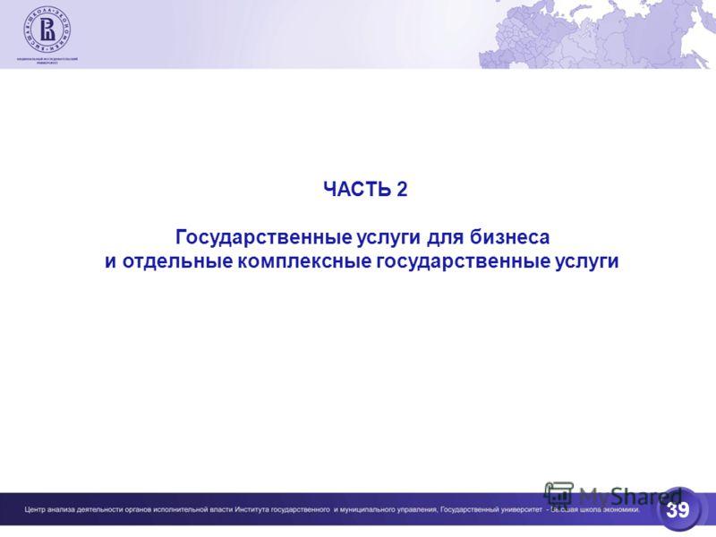 39 ЧАСТЬ 2 Государственные услуги для бизнеса и отдельные комплексные государственные услуги