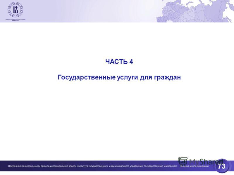 73 ЧАСТЬ 4 Государственные услуги для граждан
