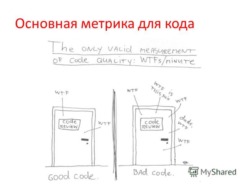 Основная метрика для кода