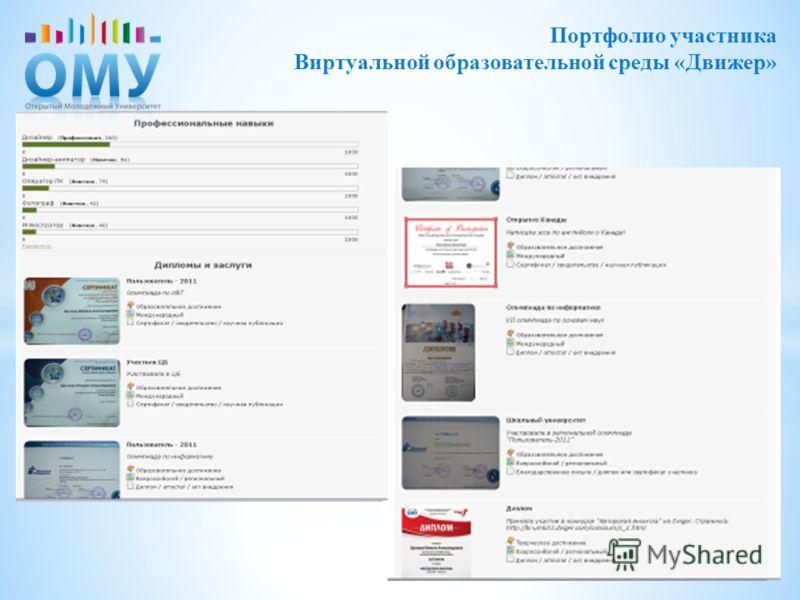 Портфолио участника Виртуальной образовательной среды «Движер»