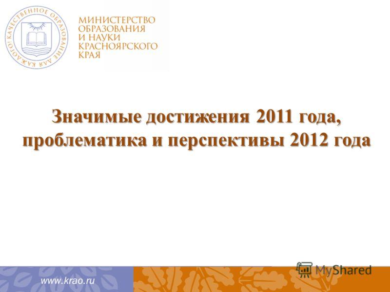 Значимые достижения 2011 года, проблематика и перспективы 2012 года