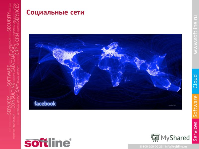 8-800-100-00-23 l info@softline.ru www.softline.ru Software Cloud Services Социальные сети
