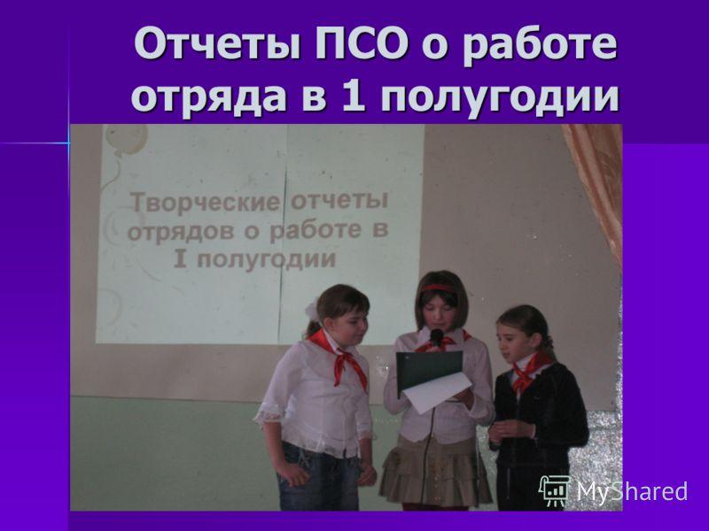 Отчеты ПСО о работе отряда в 1 полугодии