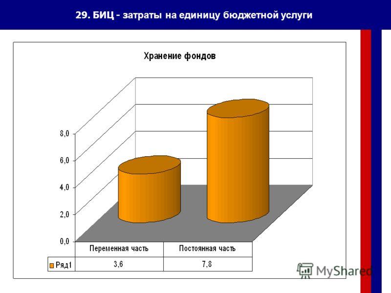 29. БИЦ - з атраты на единицу бюджетной услуги